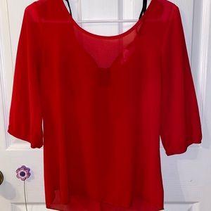 A'GACI Tops - A'GACI size small red blouse